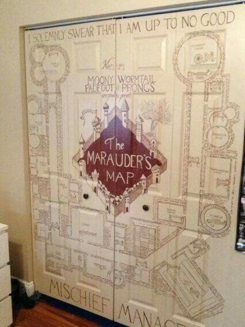 the Marauder's Map can become a gorgeous wall mural for any space