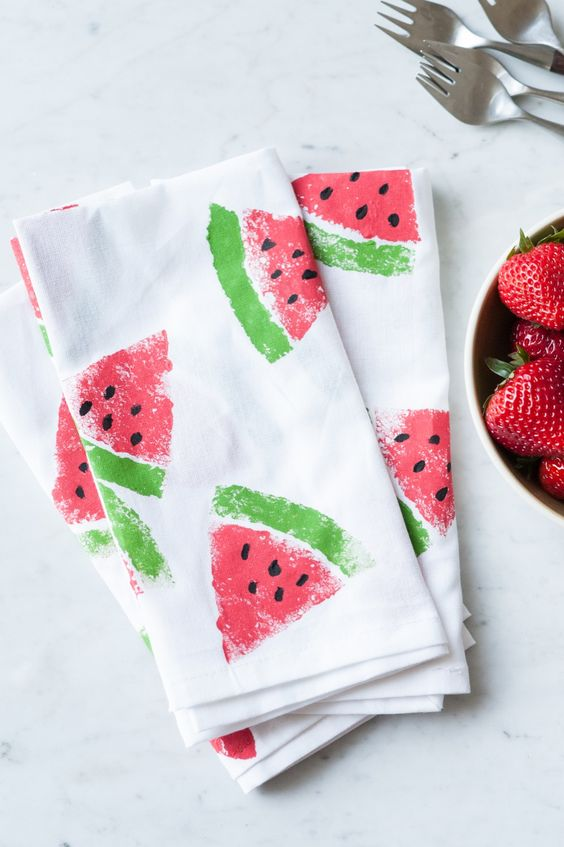 watermelon print napkins will spruce up your summer tablescape