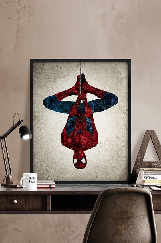 a cool framed Spiderman poster will spurce up any space