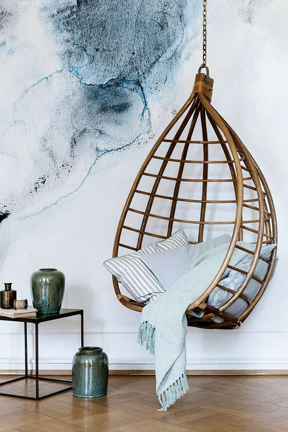 A Rattan Hanging Chair Can Make A Bold Statement In Any Modern Space