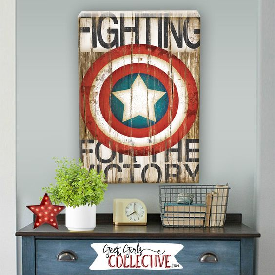 Captain America pallet wall sign will cheer any space up