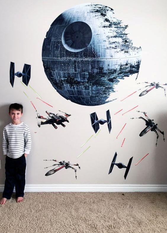 Star Wars wall mural for a boy's space