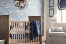 05 a constellation map wall is a great solution for a boy's nursery