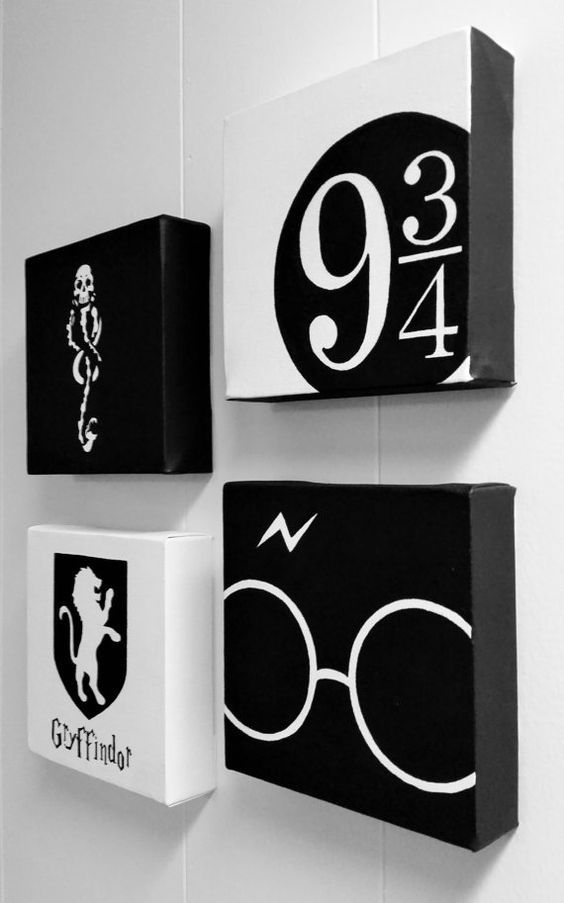 black and white artworks inspired by Harry Potter books