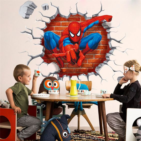 colorful 3D wall decal for a kid's space