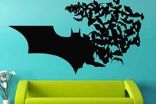 06 Batman wall vinyl decal is a great idea both for a your or rented home