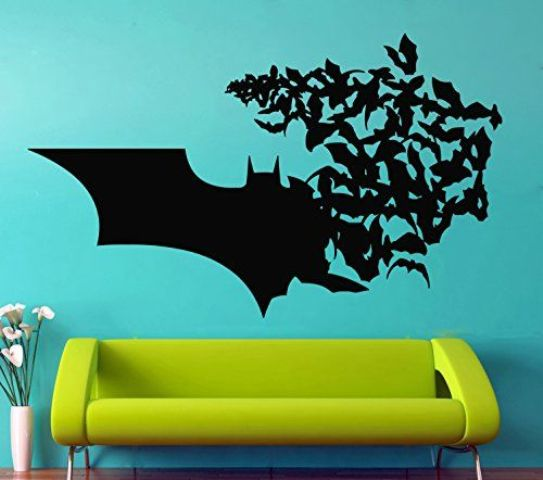 Batman wall vinyl decal is a great idea both for a your or rented home