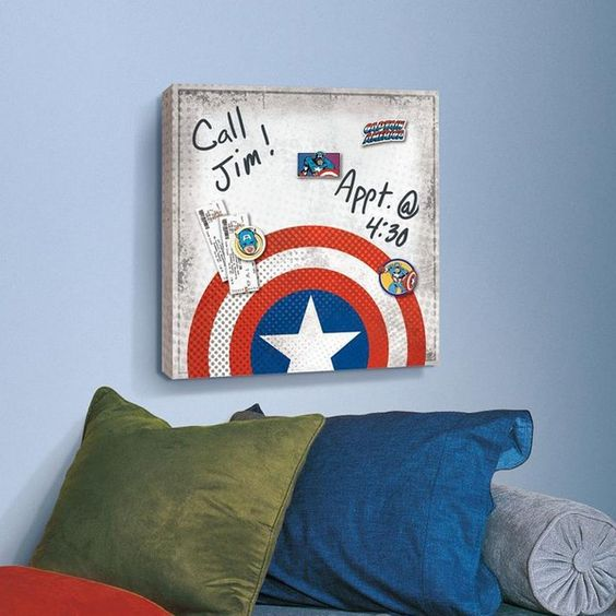 Captain America magnetic canvas wall art