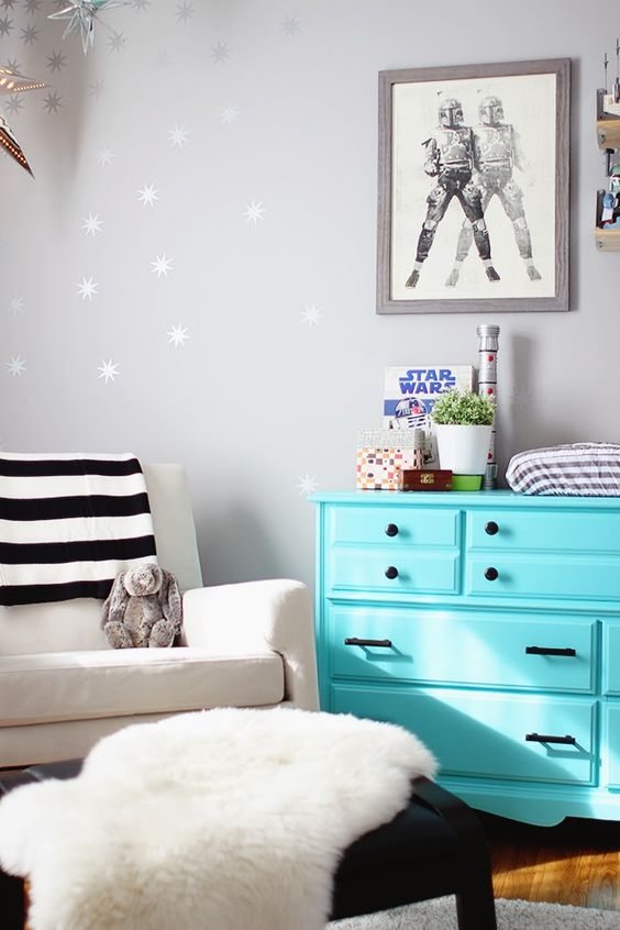 Star Wars wall art can be a fit even in a glam interior