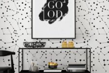06 black and white removable constellation wallpaper