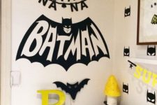 07 Batman wall stickers for a bold boy's bedroom