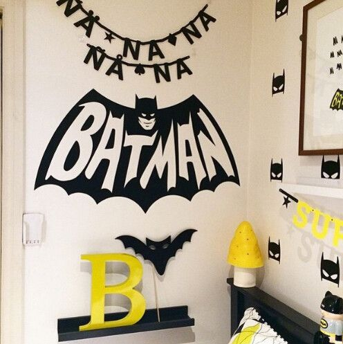Batman wall stickers for a bold boy's bedroom
