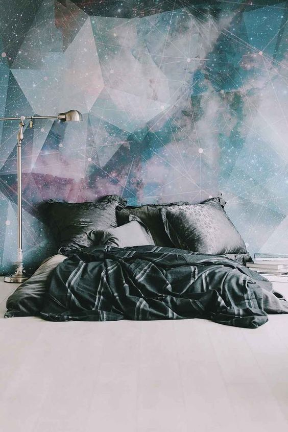 constellation statement wall mural spruces up the whole bedroom