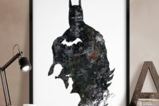 08 Batman canvas can be DIYed by you if you feel crafty