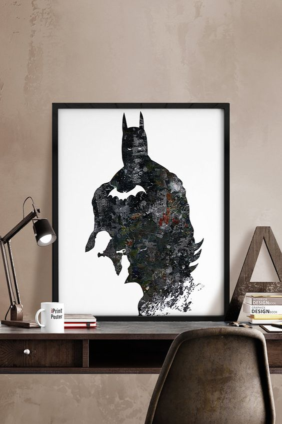 Batman canvas can be DIYed by you if you feel crafty