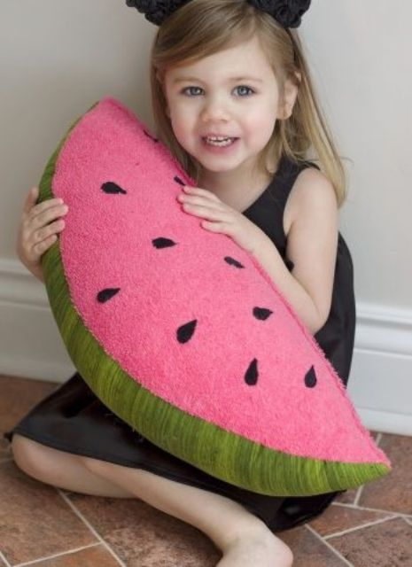 watermelon slice pillow will be loved by kids and adults