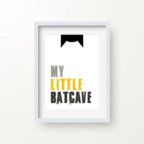 Batman print wall art piece can fit any boy's room
