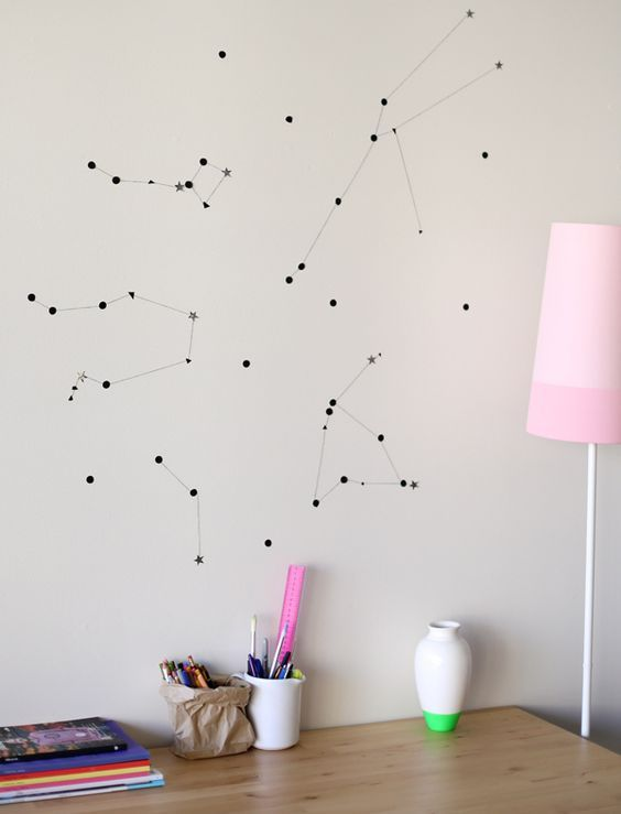 constellation art can be removed, which is a great idea for renting