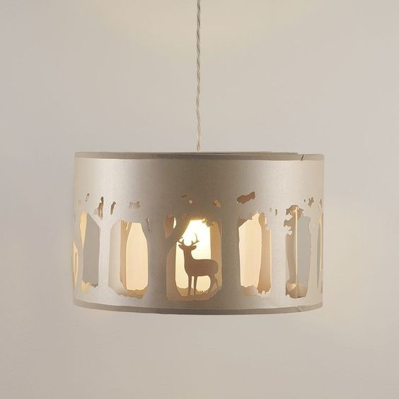 Harry Potter pendant lamp with a magic forest and patronus