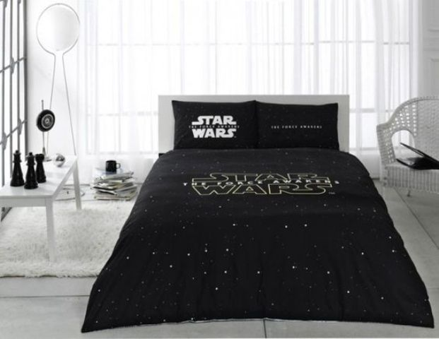black and white Star Wars bedding is classics for any bedroom
