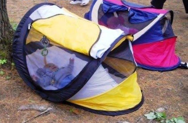 colorful baby tents for camping with an infant