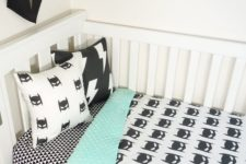 12 black, mint and white Batman kids' bedding is a gorgeous idea for a boy's room