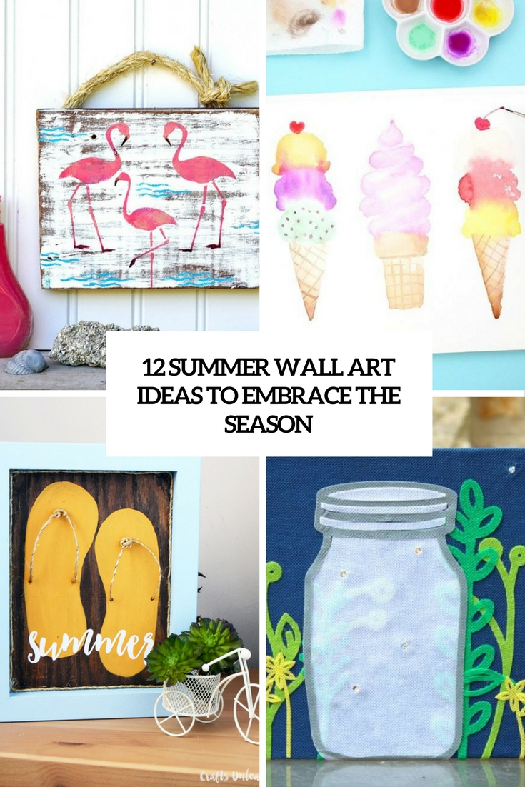 12 DIY Summer Wall Art Ideas To Embrace The Season - Shelterness