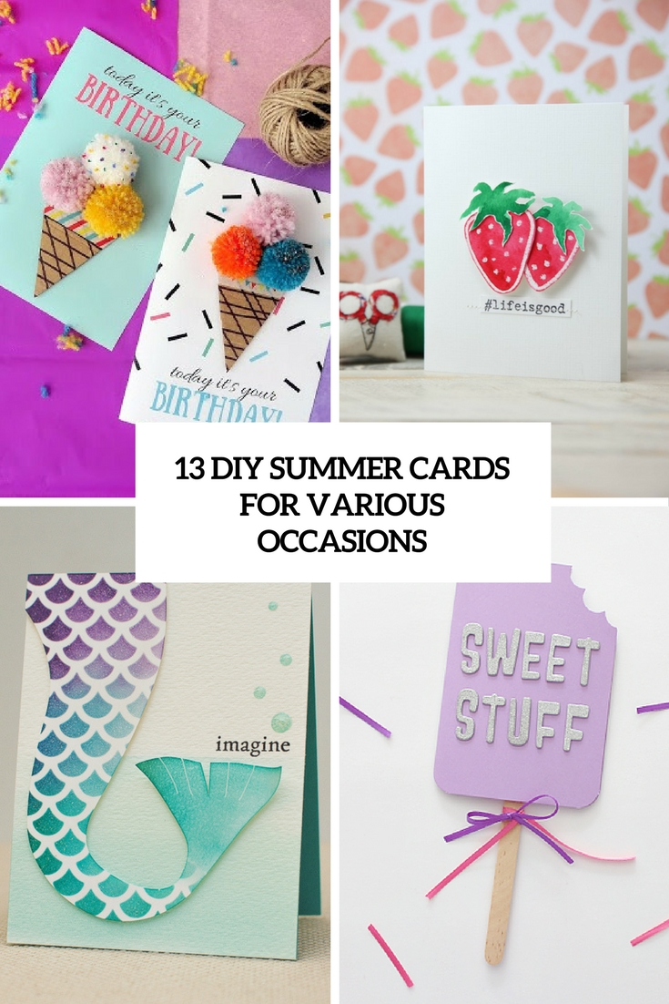13 Diy Summer Cards For Various Occasions Shelterness