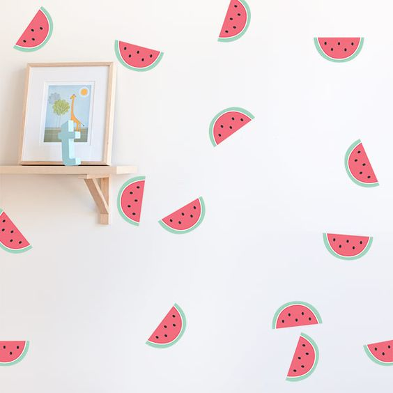 watermelon wall stickers will help you to easily add a summer cheer to your space