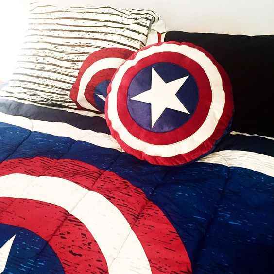Captain America shield pillows will make your sleeping cooler