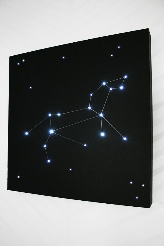 a lit up constellation light to add a stylish astronomy touch