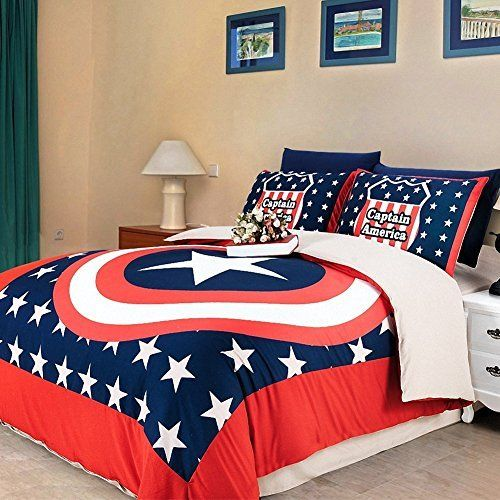 Captain America style bedding for superheroes