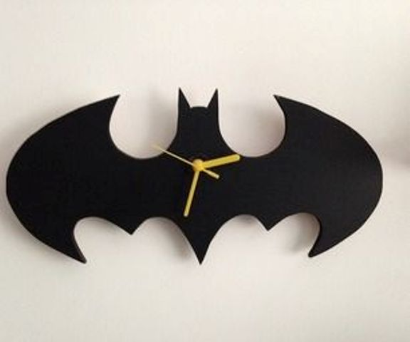 a Batman wall clock can be easily DIYed for both adults' and kids spaces