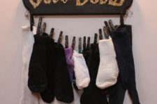 16 a sock holder with a glitter Save Dobby sign will be a cheerful piece for a kids room