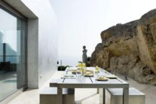 16 concrete and stainless steel are among the best solutions for outdoor furniture because of low maintenance and durability