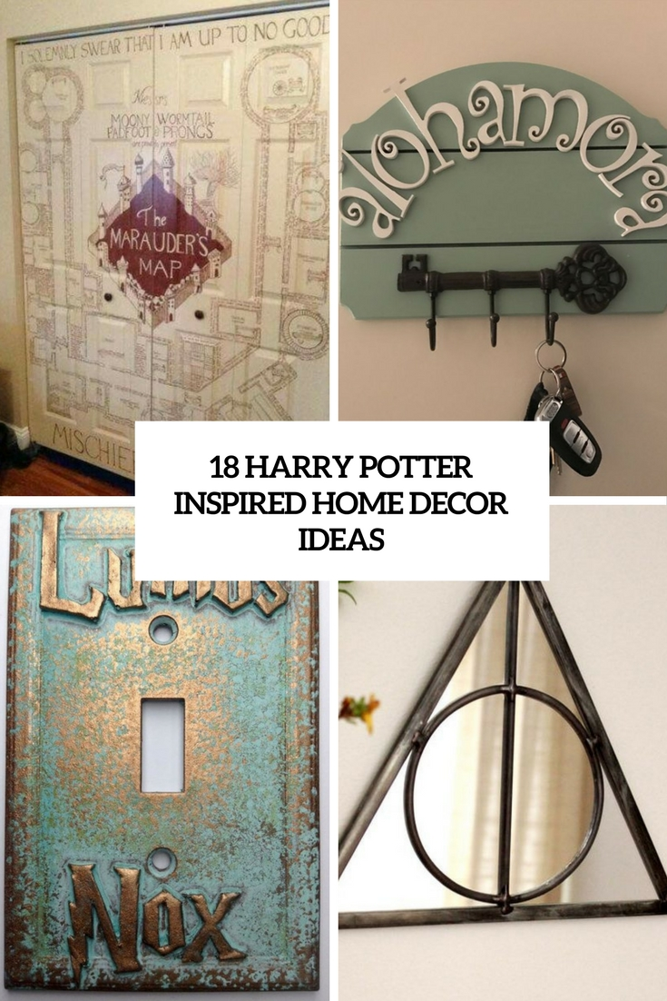 18 harry potter inspired home d cor ideas shelterness - Home decor books ...