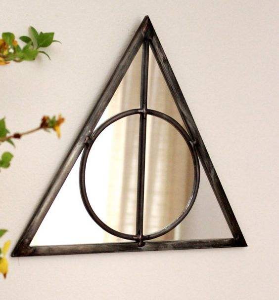 wall mirror made as a triangle from Harry Potter and Deathly Hallows