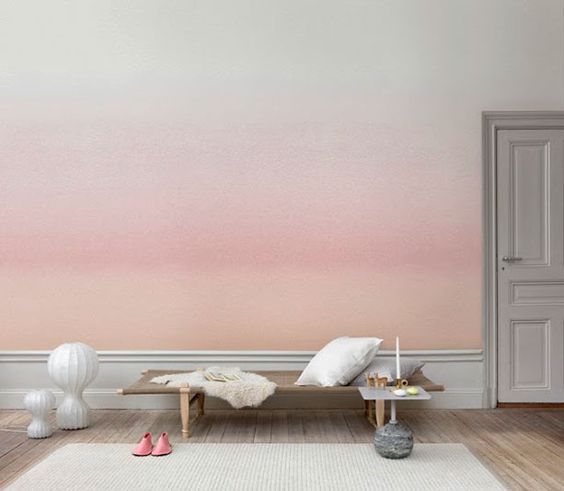 minimalist peachy and pink watercolor wallpaper for a warming feel
