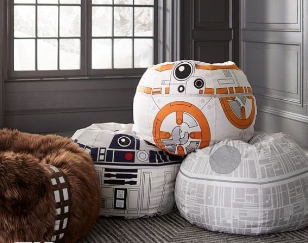printed Star Wars bean bag pillows are amazing for any lounge zone