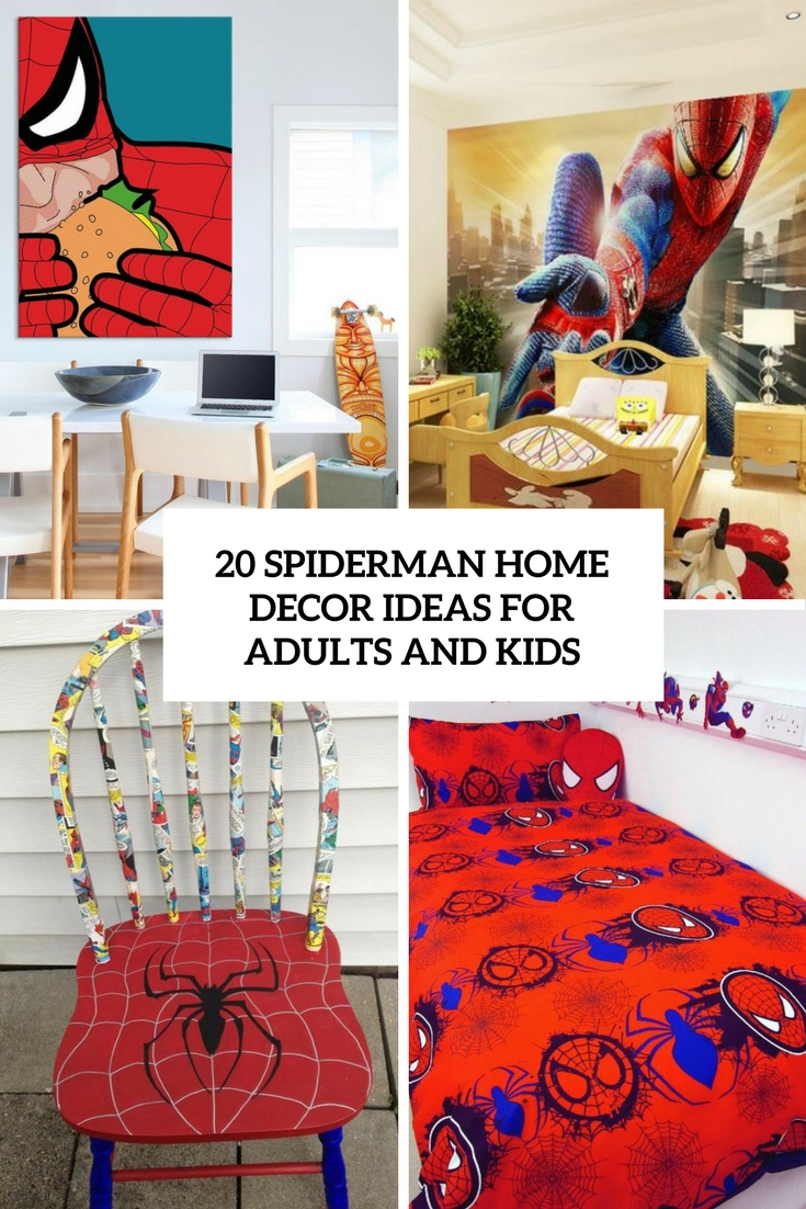 spiderman home decor ideas for adults and kids cover