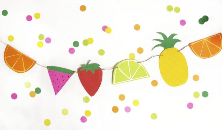 DIY paper fruit banner (via www.jampaper.com)