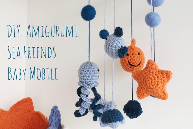 DIY amigurumi sea creatures baby mobile (via www.petitboutdechou.com)