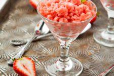 DIY strawberry orange granita