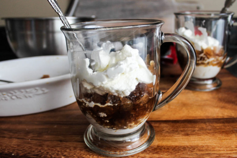 DIY coffee granita whipped cream (via www.allonseat.com)