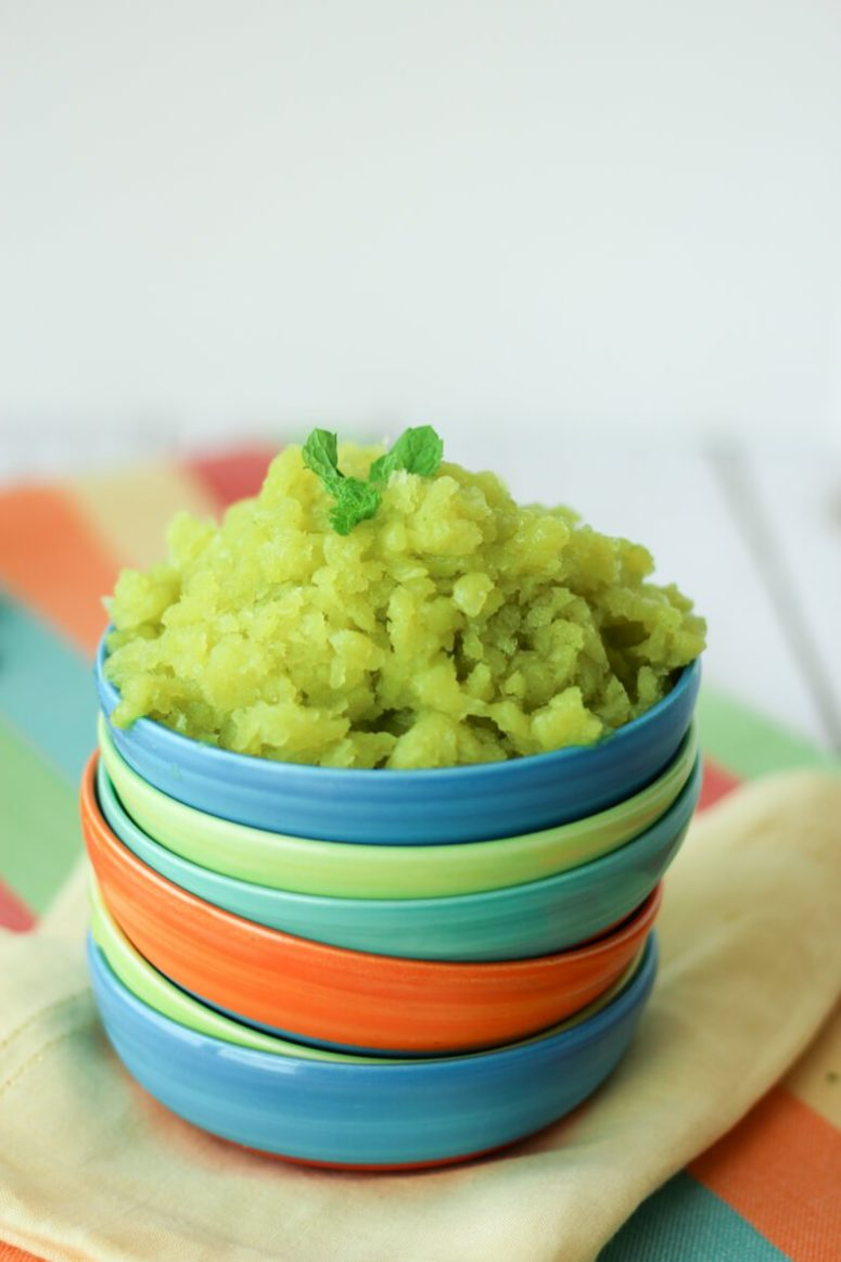 DIY cucumber lime spicy mango granita (via www.abbeyskitchen.com)
