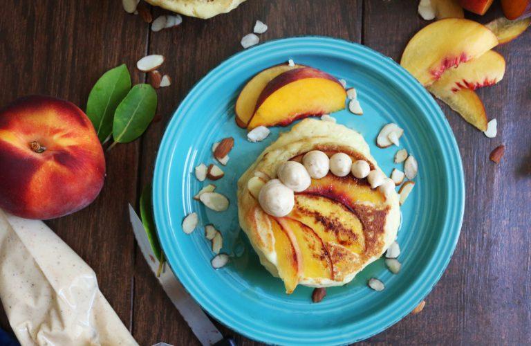 DIY almond peach pancakes with bourbon butter (via https:)