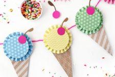 DIY paper ice cream banner