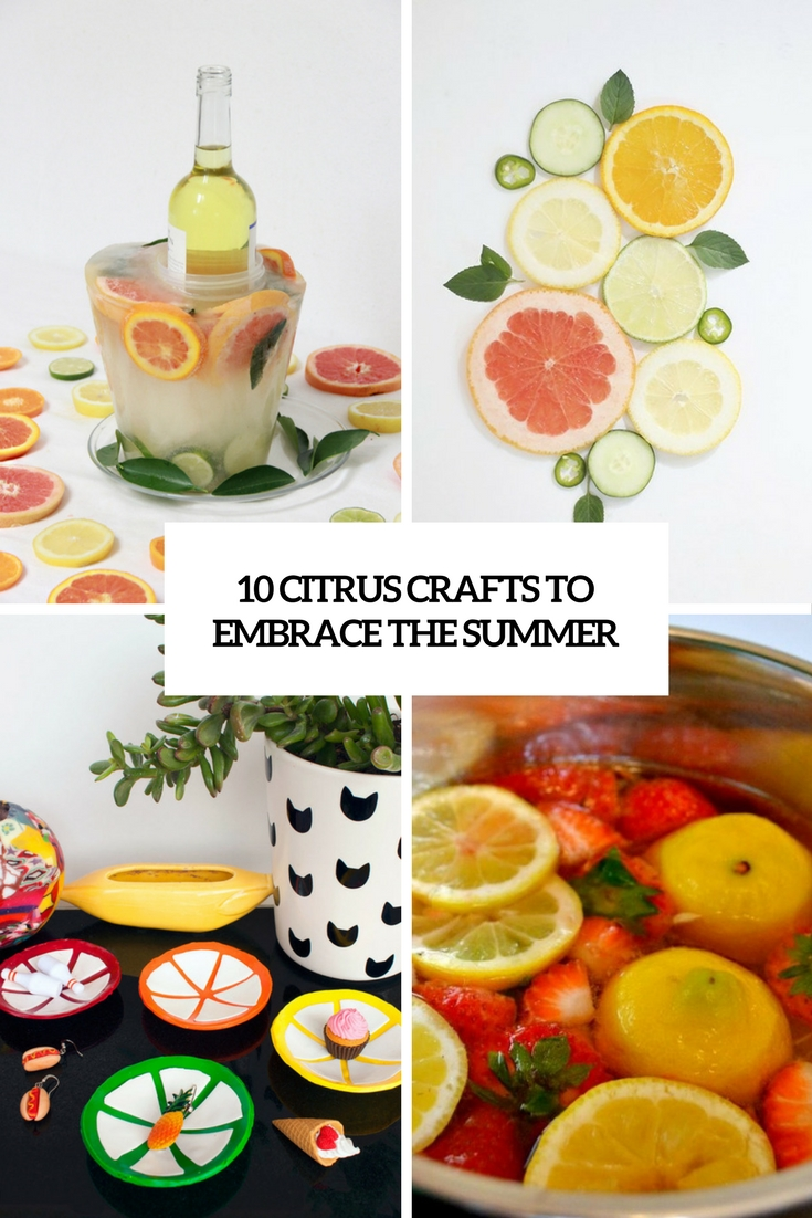 10 DIY Citrus Crafts To Embrace The Summer