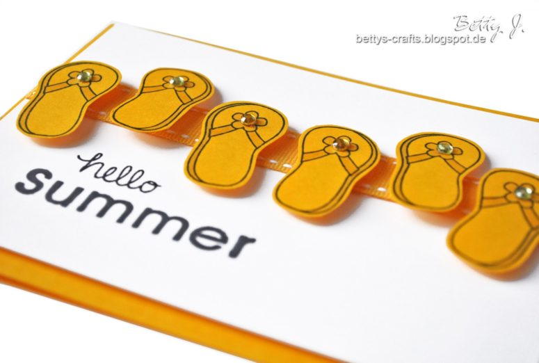 DIY 3D flipflop card (via bettys-crafts.blogspot.ru)
