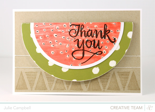 DIY watermelon card (via stampedinhisimage.blogspot.ru)
